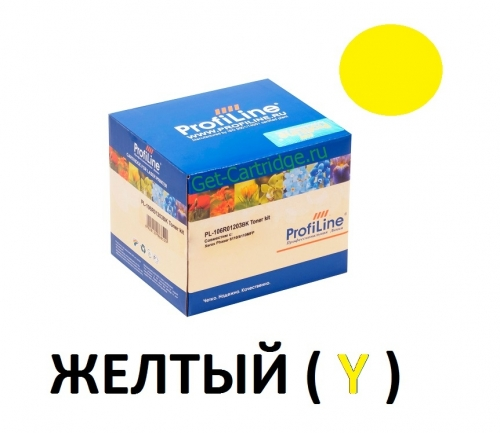 Картридж для Xerox phaser 6110 6110mfp Yellow желтый - 106R01204 - (1000 страниц) - ProfiLine