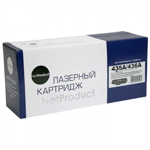 Картридж для для hp laserjet p1000 p1002 p1003 p1004 p1005 p1006 p1007 p1008 p1009 cb435a 35a (1500 страниц) - NetProduct