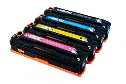 Картридж для HP Color LaserJet CM1312 CM1312nfi CP1210 CP1215 CP1515n CP1518ni CB543A 125A magenta пурпурный (1400 страниц) - UNITON