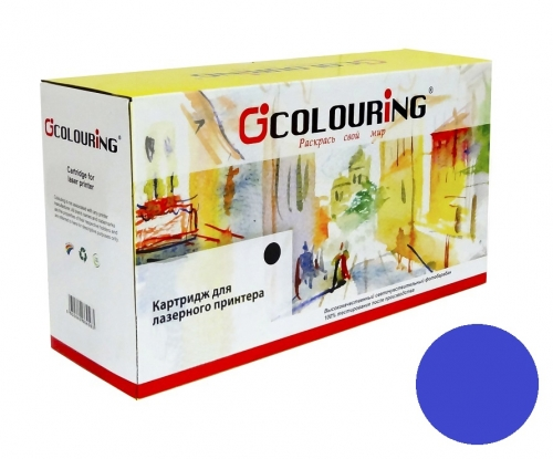 Картридж для hp Color laserjet pro 200 m251n m251nw m276n m276nw mfp cf211a 131a cyan синий (1800 страниц) - Colouring