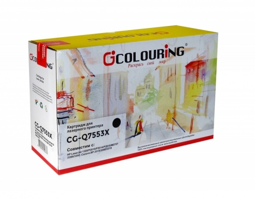 Картридж для hp laserjet p2014 p2015d p2015n p2015dn m2727nf m2727nfs mfp q7553x 53x (7000 страниц) - Colouring