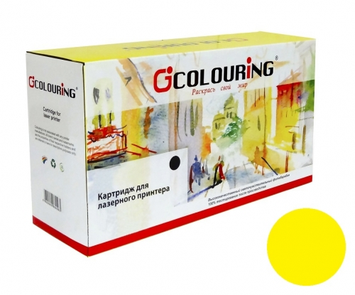 Картридж для HP Color LaserJet Pro 100 M175a M175nw M275nw CP1012 CP1020 CP1025 CE312A 126A yellow желтый (1000 страниц) - Colouring