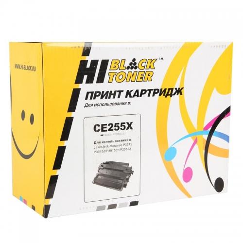 Картридж для hp laserjet m525c m525f m525dn p3015 p3015d p3015dn p3015x pro m521dn m521dw mfp ce255x 55x (12500 страниц) - Hi-Black