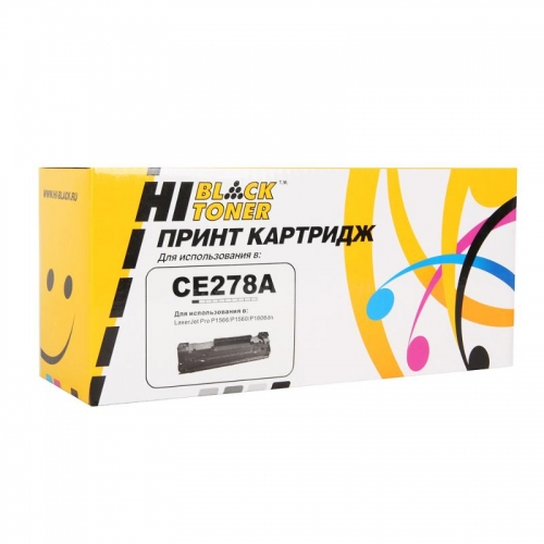 Картридж для hp laserjet pro p1560 p1566 p1600dn p1606dn p1606w m1536dnf mfp ce278a 78a (2100 страниц) - Hi-Black
