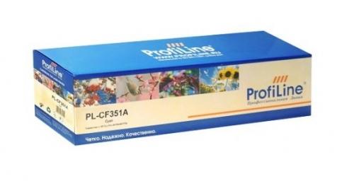 Картридж для hp color laserjet pro m176n m177fn m177fw mfp cf351a 130a cyan (1000 страниц) - ProfoLine