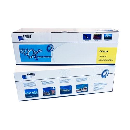 Картридж для HP Color LaserJet Pro 200 m252n m252dw m274n m277n m277dw mfp CF402X 201X Yellow желтый (2300 страниц) ЭКОНОМИЧНЫЙ - Uniton
