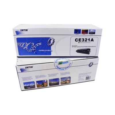 Картридж для hp laserjet pro color cm1415fw cp1525n cp1525nw cm1415fn cm1415fnw mfp ce321a 128a cyan синий (1300 страниц) - Uniton