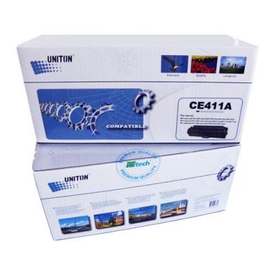 Картридж для HP Color LaserJet Pro 300 M351a M375nw Pro 400 M451dn M451dw M451nw M475dn M475dw CE411A 305A Cyan синий (2600 страниц) - UNITON