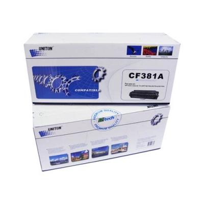 Картридж для hp laserjet pro 400 color m475dn m475dw m475nw m476dn m476dw m476nw mfp cf381a 312a cyan синий (2700 страниц) - Uniton