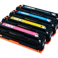 Картридж для HP Color LaserJet Pro cp1525n cp1525nw cm1415fn cm1415fnw mfp ce321a 128a cyan синий (1300 страниц) - Uniton