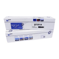Картридж для hp color laserjet pro m176n m177fn m177fw mfp cf351a 130a cyan (1000 страниц) - Uniton