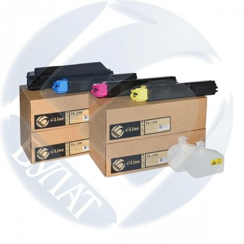 Тонер-картридж Kyocera FS-C5250/C2026MFP TK-590 (5k) Y (+чип) БУЛАТ s-Line